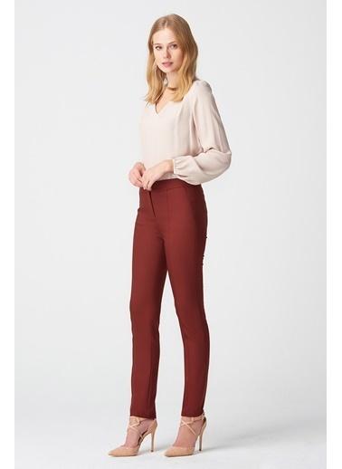 NaraMaxx Dar Paça Kiremit Pantolon Kırmızı